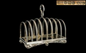 Elizabeth II Superior Quality - Large Sterling Silver 8 Tier Toast rack of Solid Construction and