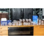 A Collection of Mostly Royal Doulton Crystal Glasses to include five boxes each containing two