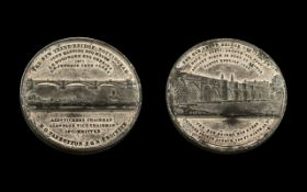 Nottingham Interest - A Large Silvered Metal Medallion for the opening of the new Trent Bridge in