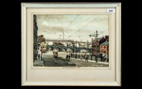 Original Deryk Bailey Watercolour, art work by renowned artist Deryk Bailey, titled 'View From Daw