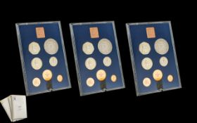Three Proof Coin Sets Coinage of Great Britain and Northern Ireland,