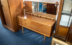 """Teak Sliding Door Austin Suite Wardrobe, 36"""" wide x 67"""" high, and a matching dressing table."""