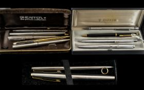 Small Collection of Pens to include a Parker fountain pen, Parker ballpoint pen, Paper Mate etc.