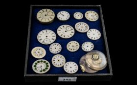 Collection of ( 15 ) Watch Enamel Dials, Some with Jewellery,