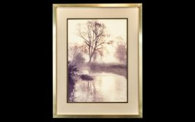 Geraldine Hillmer Limited Edition No 50 of 50 - Titled ' Reflections at Dawn ' Hand Coloured