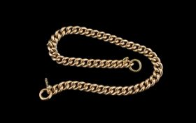 Antique Period - 9ct Gold Superb Quality Albert Watch Bracelet. All Links are Marked 9.375.