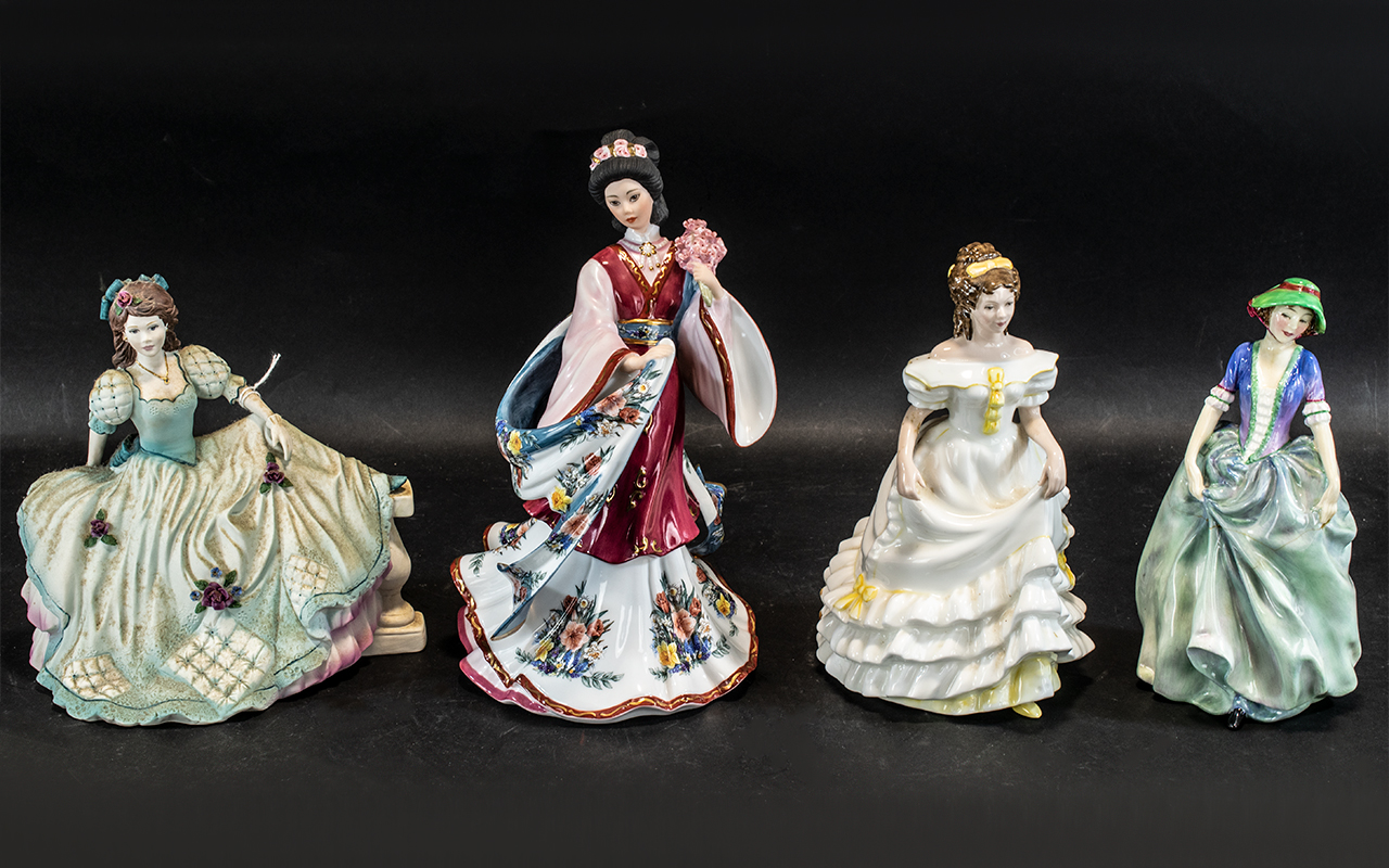 A Collection of Four Figures to include Royal Doulton H.N. 1836 Vanessa a/f, Royal Doulton H.N.