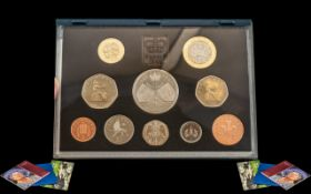 Collection of 5 Boxed Silver Royal Mint Coins. ( 5 ) Solid Silver Sets.