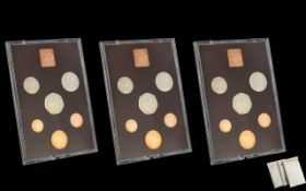 Three Proof Sets 1974 Coinage of Great Britain and Northern Ireland,