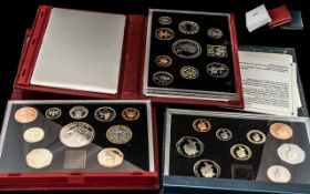 Collection of Royal Mint Proof Box Sets comprising 1999 Deluxe Proof Set, 1992 Proof Set and 1998