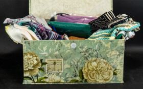 Collection of 27 Assorted Vintage & Modern Scarves, Wraps & Shawls, including Jacqmar, Cacharel,