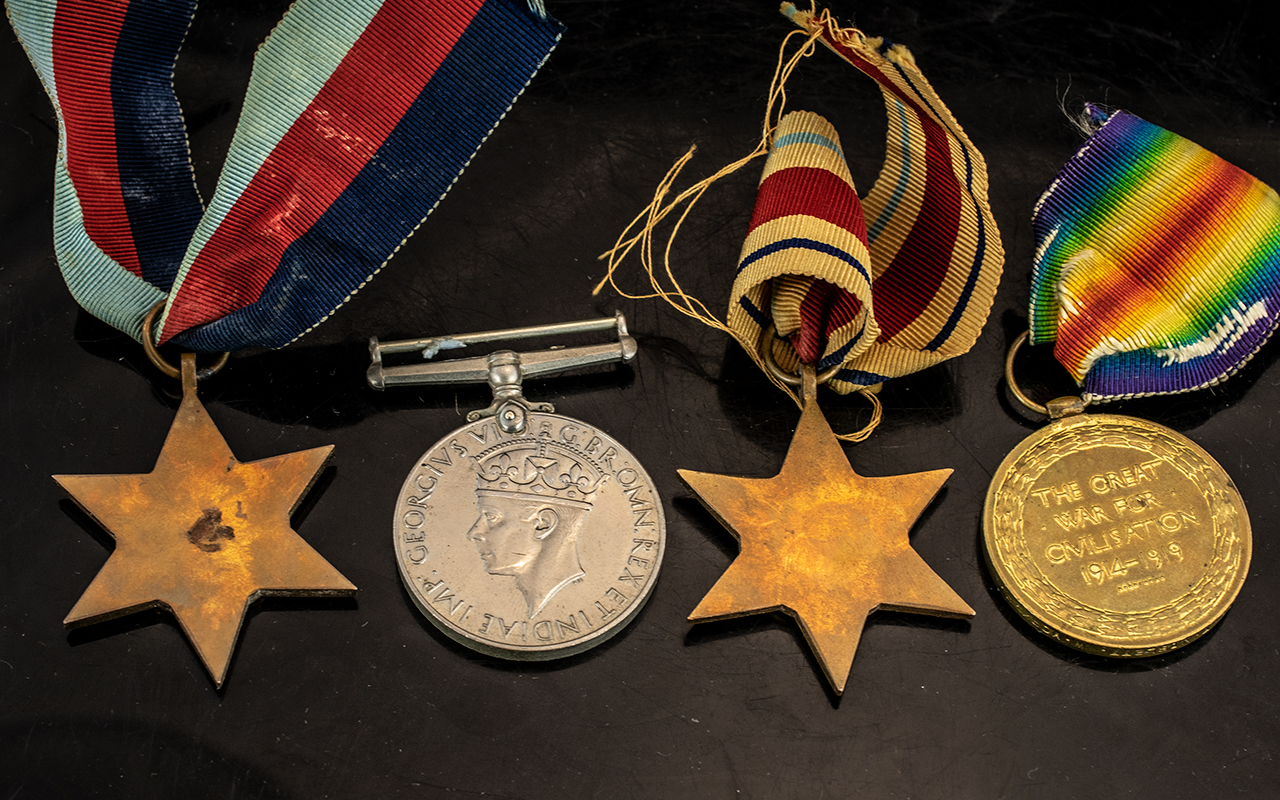 Collection of WWl and WWll Medals, four medals in total - Image 2 of 2