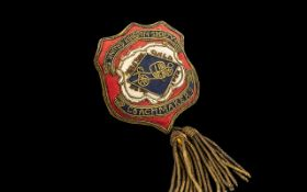 Preston Guild Interest - Rare 1902 Gold Braid Guild Badge for the United Kingdom Society of
