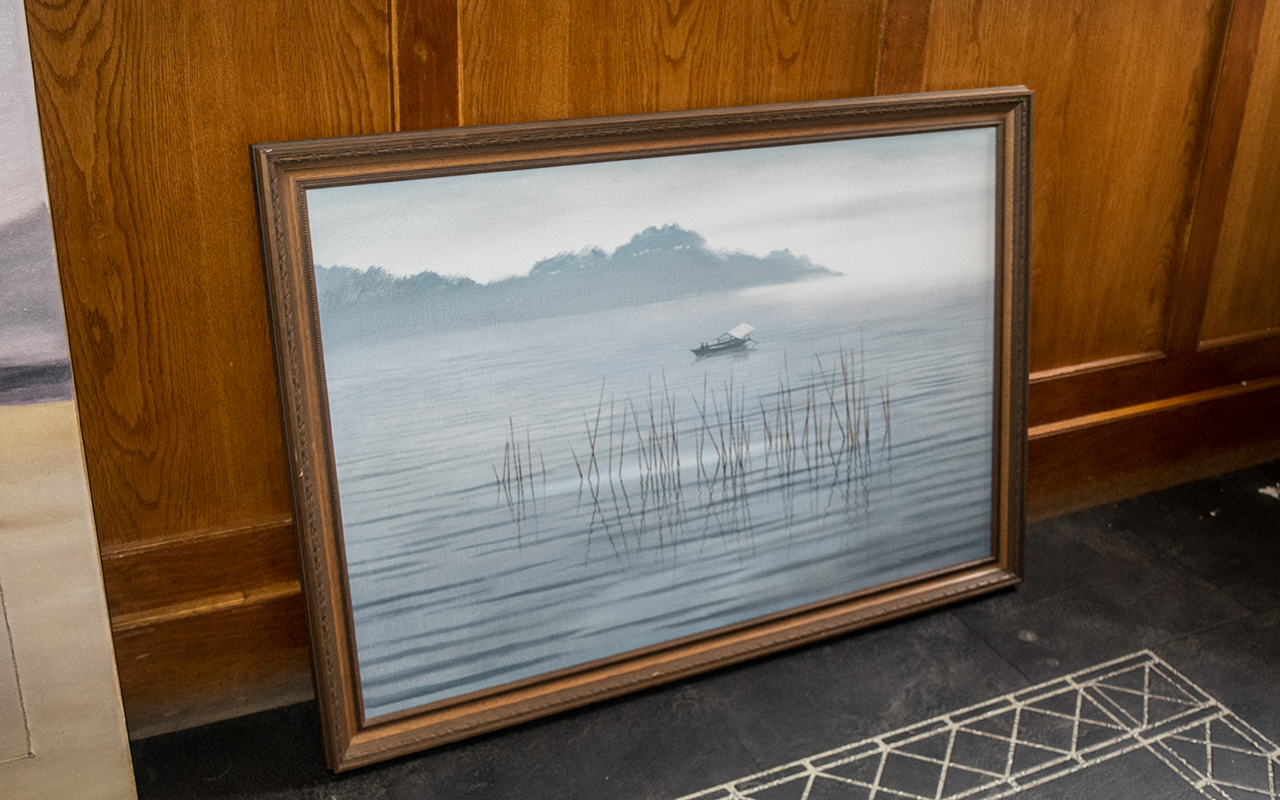 Chinese Original Oil Painting by Ronald Wong. Superb Original Oil Painting by Ronald Wong, Depicting