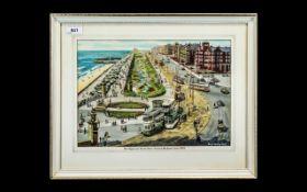 Tram Interest: Original Deryk Bailey Watercolour, original artwork by famous tramway artist Deryk