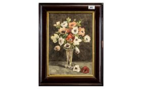 Victorian Still Life Watercolour, a lovely painting in original frame, signed bottom left, 19 inches
