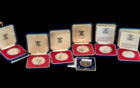 Six Proof Crowns Royal Mint 1977 plus two 1981 Crowns (8)