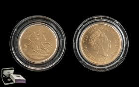 Royal Mint 2019 Gold Sovereign Limited Edition of 650. Victoria 200.