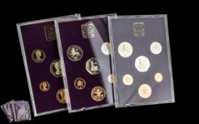 Three Royal Mint Coin Sets 1980 Coinage of Great Britain and Northern Ireland