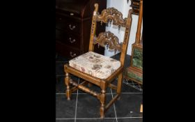 A Tit Marsh Type Yorkshire Jacobean Style Chair.
