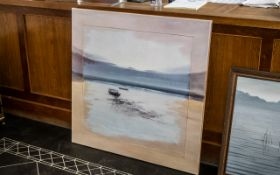 Original Oil on Canvas by Jose Barbera - Titled Tidal Coast.