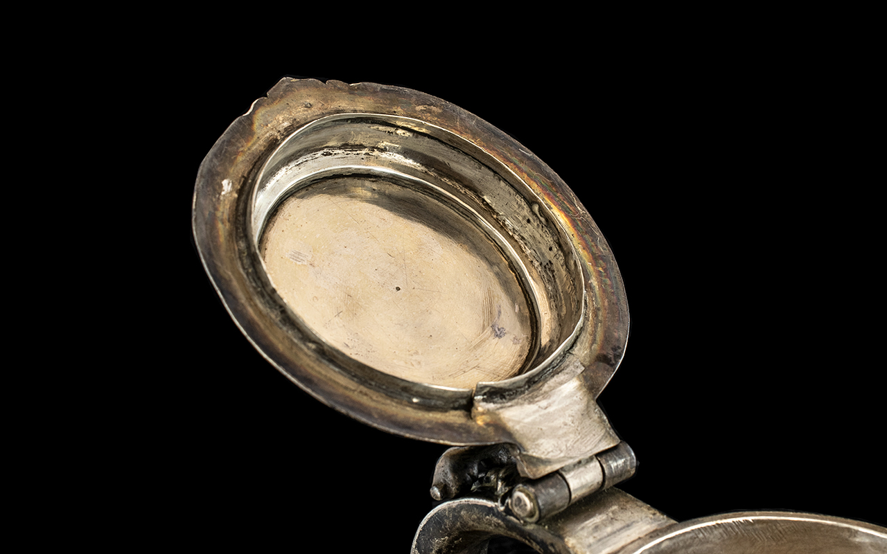 William III Silver Tankard By Richard Green, London 1697. Plain Tapering Cylindrical Body. Later - Image 2 of 5