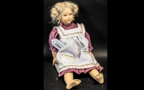Heidi Ott Heine Doll. 8 Inches High, Marks to Back of Head.