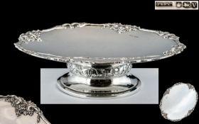 Ollivant and Botsford Wonderful Quality Sterling Silver Tazza - Pedestal Bowl,