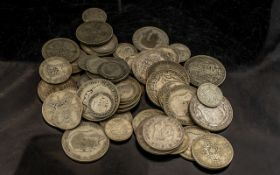 Bag of Pre 1947 Coins - 0500, Silver Weight 12 ozs.