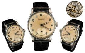 International Watch Company Gents - Steel Cased Mechanical Wrist Watch.