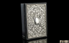 Silver Fronted Dictionary. Large Leather Bound and Silver Fronted Dictionary.