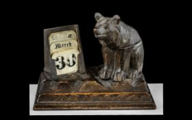 Black Forest Inkwell and Calendar.