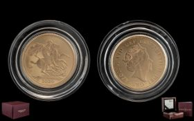 A Royal Mint 2020 Gold Sovereign in fitted box with certificates