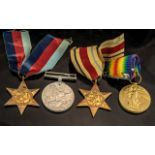 Collection of WWl and WWll Medals, four medals in total