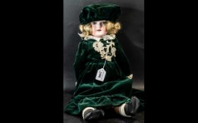 C.M. Bergmann Waltershausen 1916 6.1/2a Bisque Head Antique Doll with Composition Body.