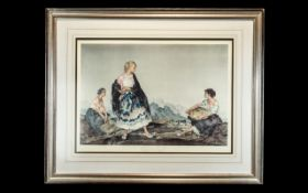 Russell Flint Limited Edition Framed Picture, One of Only 850. Overall Size 32 by 26 Inches.