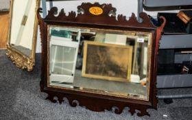 Georgian Mirror with Scroll Decoration a