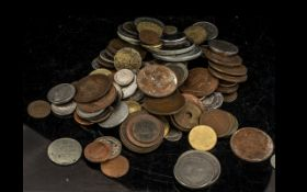 Mixed Collection of Copper English Coins