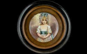 A Fine Quality Miniature Painting on Por
