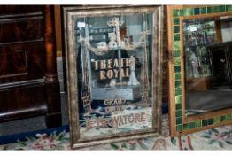 Large Advertising Mirror, 'Theatre Royal