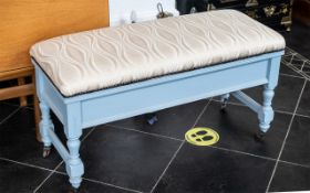 An Edwardian Painted Piano Duet Stool wi