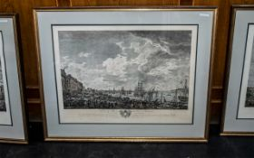Set of Four Large French Framed Coloured