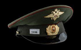 Russian Military Peak Cap, in excellent