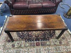 Antique Mahogany Coffee Table, raised on