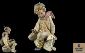 Lladro - Gres Hand Painted Figure ' Tend
