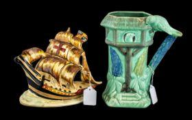 Art Deco Arthur Wood Pottery Model of a