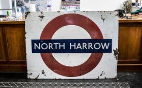 'North Harrow' Original Vintage Enamel L