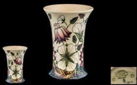 Moorcroft Modern Tubelined Vase ' Brambl
