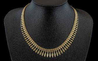 A Ladies Contemporary Design 9ct Gold '