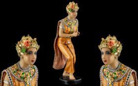 Oriental Large Figure of a Praying Woman